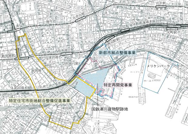 神戸ハーバーランド 整備図